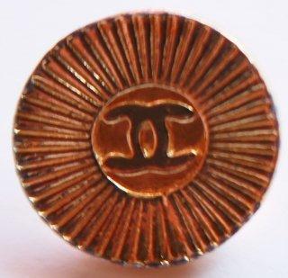 562 CHANEL VINTAGE(シャネル ヴィンテージ)COCO マーク デザイン  ボタン ゴールド