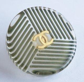 578 CHANEL VINTAGE(シャネル ヴィンテージ)COCO マーク デザイン  ボタン カーキ