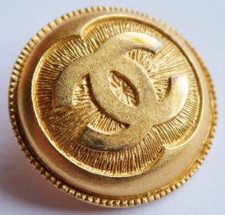 585-1 CHANEL VINTAGE(シャネル ヴィンテージ)COCOマーク デザイン  ボタン ゴールド