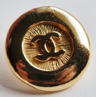 587-1 CHANEL VINTAGE(シャネル ヴィンテージ)COCOマーク デザイン  ボタン ゴールド
