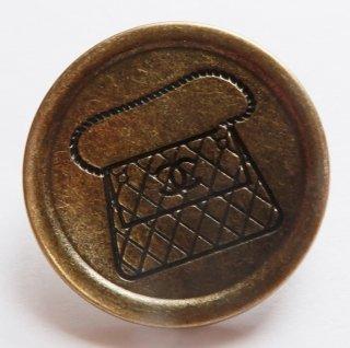 592 CHANEL VINTAGE(シャネル ヴィンテージ)マトラッセ バッグ COCOマーク デザイン  ボタン アンティークゴールド