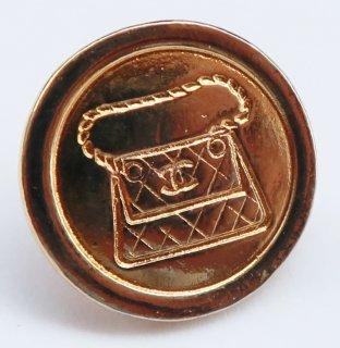 596 CHANEL VINTAGE(シャネル ヴィンテージ)COCOマーク マトラッセ バッグ デザイン  ボタン ゴールド