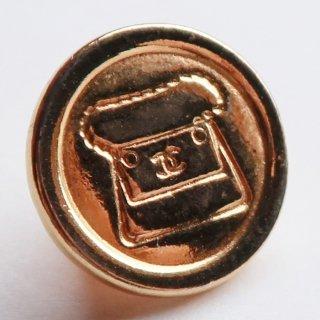 600-2 CHANEL VINTAGE(シャネル ヴィンテージ)COCOマーク マトラッセ バッグ デザイン  ボタン ゴールド