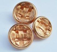 617 CHANEL VINTAGE(シャネル ヴィンテージ)メッシュ 編み込み デザイン  ボタン ゴールド 3点セット