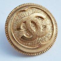625-2 CHANEL VINTAGE(シャネル ヴィンテージ)COCOマーク デザイン  ボタン ゴールド