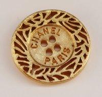 631-2 CHANEL VINTAGE(シャネル ヴィンテージ)CHANEL PARIS デザイン  ボタン ゴールド