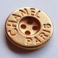 643-1 CHANEL VINTAGE(シャネル ヴィンテージ)CHANEL PARIS デザイン  ボタン ゴールド