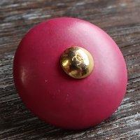 652-1 CHANEL VINTAGE(シャネル ヴィンテージ)COCOマーク デザイン  ボタン ピンク