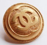 684-2 CHANEL VINTAGE(シャネル ヴィンテージ)COCOマーク デザイン  ボタン ゴールド