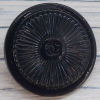 707-1 CHANEL(ヴィンテージ シャネル) COCOマーク ボタン ネイビー