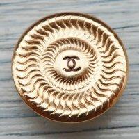 735 CHANEL VINTAGE (シャネル ヴィンテージ) COCOマーク デザイン スナップボタン ゴールド