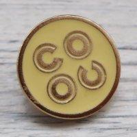 757 CHANEL VINTAGE (シャネル ヴィンテージ)COCO ロゴ デザイン ボタン ゴールド×イエロー