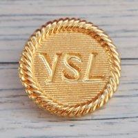 Y-1 YVES SAINT LAURENT VINTAGE (イヴサンローラン ヴィンテージ)YSL マーク ボタン ゴールド