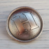 H-1 HERMES VINTAGE (エルメス ヴィンテージ)H マーク ボタン シルバー