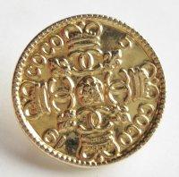 481-1 CHANEL VINTAGE (シャネル ヴィンテージ)COCOマーク&王冠 ボタン ゴールド