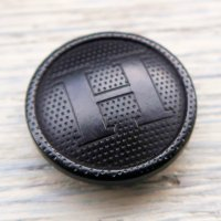 H-4 HERMES VINTAGE (エルメス ヴィンテージ)H マーク ボタン ブラック