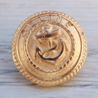 772-2 CELINE VINTAGE  イカリ モチーフ デザイン ボタン ゴールド