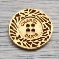 787-2 CHANEL VINTAGE (シャネル ヴィンテージ)CHANEL PARIS ロゴ デザイン ボタン
