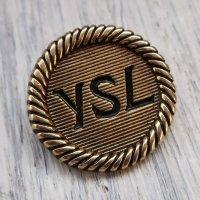 791 YVES SAINT LAURENT VINTAGE (イヴサンローラン ヴィンテージ)YSL マーク ボタン アンティークゴールド