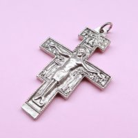 【2G】TheDelight BIG CHRIST CROSS MEDAI TOP(ビッグ キリスト クロス メダイ トップ)シルバー