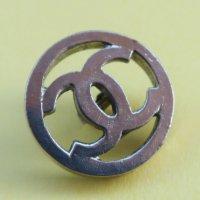 803-2 CHANEL(ヴィンテージ シャネル) COCOマーク ボタン シルバー
