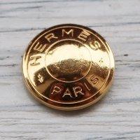 810 HERMES(ヴィンテージ エルメス) セリエ マーク ボタン ゴールド