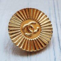 813 CHANEL(ヴィンテージ シャネル) COCOマーク デザイン ボタン ゴールド