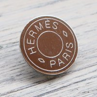 816 HERMES(ヴィンテージ エルメス) セリエ マーク ボタン シルバー