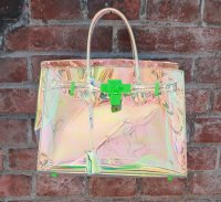 TheDelight AURORA CLEAR BIRKIN BAG オーロラ クリア バーキン バッグ
