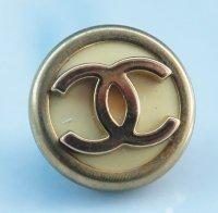 821 CHANEL(ヴィンテージ シャネル) COCOマーク デザイン ボタン イエロー