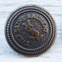 829-2 YVES SAINT LAURENT VINTAGE (イヴサンローラン ヴィンテージ)YSL マーク ボタン アンティークゴールド