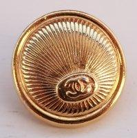 841 CHANEL(ヴィンテージ シャネル) COCOマーク デザイン ボタン ゴールド