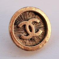 843-2 CHANEL(ヴィンテージ シャネル) COCOマーク デザイン ボタン ゴールド