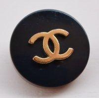 844 CHANEL(ヴィンテージ シャネル) COCOマーク デザイン ボタン ブラック