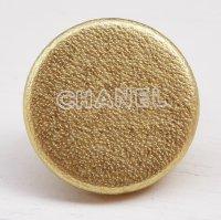 851 CHANEL(ヴィンテージ シャネル)ロゴ デザイン ボタン ゴールド