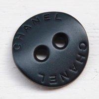 867 CHANEL(ヴィンテージ シャネル)ロゴ デザイン ボタン ブラック