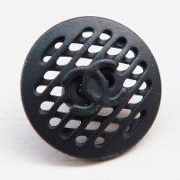 868 CHANEL(ヴィンテージ シャネル)COCOマーク デザイン ボタン ブラック