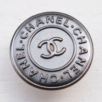 869 CHANEL(ヴィンテージ シャネル)COCOマーク デザイン ボタン シルバー