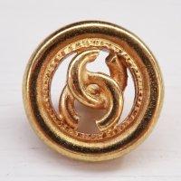 879 CHANEL(ヴィンテージ シャネル)COCOマーク デザイン ボタン ゴールド