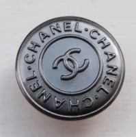 881 CHANEL(ヴィンテージ シャネル)COCOマーク デザイン スナップボタン ブラック