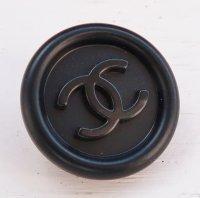 886-1 CHANEL(ヴィンテージ シャネル)COCOマーク ボタン ブラック