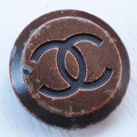 889-1 CHANEL(ヴィンテージ シャネル)COCOマーク ボタン ブラウン