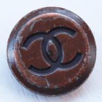 889-2 CHANEL(ヴィンテージ シャネル)COCOマーク ボタン ブラウン