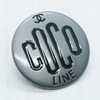 891 CHANEL(ヴィンテージ シャネル)COCOマーク ボタン ブラウン