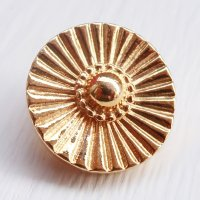 893 CHANEL(ヴィンテージ シャネル)デザイン ボタン ゴールド