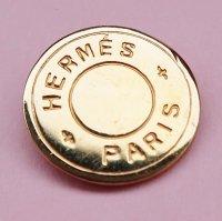 892 HERMES(ヴィンテージ エルメス) セリエ マーク ボタン ゴールド