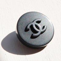 899 CHANEL(ヴィンテージ シャネル)COCOマーク ボタン ブラック