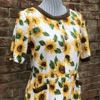 TheDelight vintage HIMAWARI  PRINTED  ONEPIECE(ひまわり プリントワンピース)