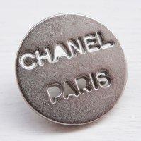 905 CHANEL(ヴィンテージ シャネル)シャネル パリ ロゴ デザイン ボタン シルバー