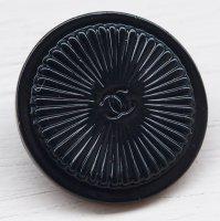 912-1 CHANEL(ヴィンテージ シャネル)COCOマーク デザイン ボタン ブラック